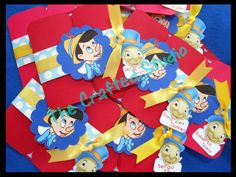 Pinocchio Themed Birthday Invitations