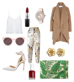 """Simple glam"" by chaimasugadollz on Polyvore featuring mode, Alice + Olivia, Manolo Blahnik, Harris Wharf London, Rochas, Christian Dior, Stella & Dot, Ted Baker, Essie et MAC Cosmetics"