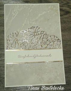 Hochzeitskarte A5, Zum Verlieben, Liebe zum Detail, Kupfer, Stampin Up, Glückwunschkarte, Tinas Bastelecke