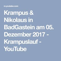 Krampus & Nikolaus in BadGastein am 05. Dezember 2017 - Krampuslauf - YouTube Bad Gastein, Boarding Pass, News, Videos, Youtube, Video Production, December, Youtubers, Youtube Movies