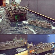 Beautiful!!! USS WASP LHD 1 1/350 diorama by Master Modeler Louis Carabott #scalemodel #scalemodelsworld #plasticmodel #plastimodelo #diorama #plastimodelismo #hobby #miniatura #miniatur #maqueta #maquette #plastickits #usinadoskits #udk #passatempo #tiempolibre