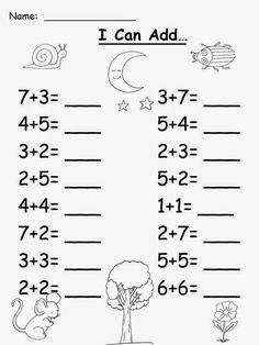 I made this pack of addition worksheets for students to