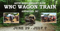 (VIDEO) The Western North Carolina Wagon Train is one of, and it may be the oldest continuous wagon trains in America. Camp primitively next to the river and ride your horse or wagon on a trek into the Smoky Mountains every day. They are even having a Battle of the Bands every evening. Listen to country and bluegrass music under the stars of Western North Carolina. Learn more... #Outdoors #Horses