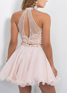 LovingDress Short Prom Dresses Chiffon Two Piece A Line Homecoming Dresses at Amazon Women's Clothing store:
