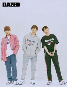 Reebok Classic Forever Dazed Magazine x Wanna One Jaehwan Wanna One, Dazed Magazine, Rain Jacket, Bomber Jacket, Ong Seongwoo, Kim Jaehwan, Ha Sungwoon, My Destiny, Together Forever