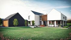 Two linear blocks sit parallel to each other with a glazed link. Composed to take advantage of the clear panoramic view of the Sperrin Mountains to the rear this large family home...