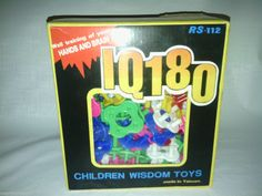 IQ 180 children wisdom toys 106 pieces RS - 112 made in taiwan #IQ180