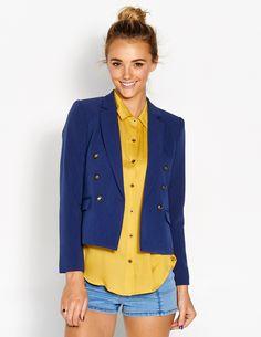 Crop Jacket and yellow shirt from @ dotti @westfieldnz #backtowork