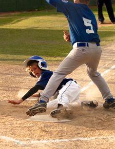 Slide home under the tag
