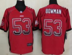 dd28b0314 San Francisco 49ers 53 Bowman White 2014 Nike Limited Jerseys