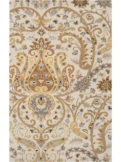 Surya Ancient Treasures Khaki Indoor Handcrafted Area Rug (Common: 8 x Actual: W x L) at Lowe's. Synonymous with its name, each individual rug found within the Ancient Treasures collection by Surya will surely be a treasure from room to room within Wool Area Rugs, Beige Area Rugs, Wool Rugs, Transitional Area Rugs, Floral Area Rugs, Grey And Gold, Gray, Traditional Rugs, Traditional Design
