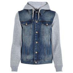 Denim Hoodie Hybrid Jacket #denim #hybrid #hoodie #jacket