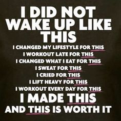 I did not wake up like this. I changed my lifestyle for this. I workout late for this. I changed what I eat for this. I sweat for this. I cried for this. I lift heavy for this. I workout every day for this. I made this and this is worth it. Yeah baby, this is totally #WildlyAlive! #selflove #fitness #health #nutrition #weight #loss LEARN MORE → www.WildlyAliveWeightLoss.com