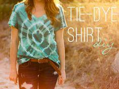 Calico skies: 52 Week Challenge: #23 DIY Tie-Dye Shirt