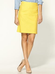 yellow pencil skirt - Google Search