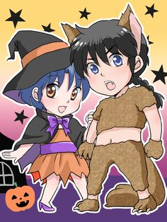 Akane & Ranma Haloween by mutsuki