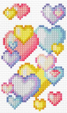 Cross Stitch Mania: Free Heart Cross Stitch Charts