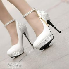 Pretty High Heels Platform Tassel  Wihte Wedding Shoes (Small One Yard) #wedding shoes http://www.tbdress.com/product/Pretty-High-Heels-Platform-Tassel-Wihte-Wedding-Shoes-Small-One-Yard-10968680.html