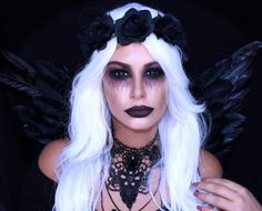 fallen dark angel halloween makeup