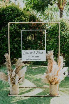 Photobooth from the Wedding of Sara & Nick Bali Wedding, Our Wedding, Wedding Venues, Dream Wedding, Rustic Wedding Signs, Wedding Trends, Destination Wedding, Outdoor Wedding Decorations, Photobooth Wedding Ideas