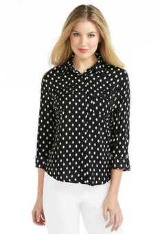 Cato Fashions Diamond Pattern High-Low Shirt #CatoFashions