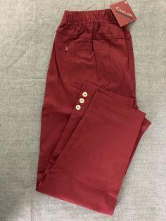 Spodnie z bengaliny Cevlar B03 kolor bordowy - Big Sister