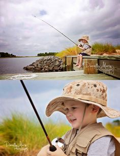 Toddler picture idea, little boy fishing, kids photography