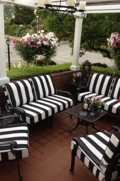 What do you think about this classic black and white stripe from Sunbrella fabrics called Cabana Classic? 🖤🤍 Now in stock. ✨ www.cushionfactory.com.au . #cushionfactory #outdoorcushions #outdoorchaircushions #outdoorfurniturecushions #outdoorliving #outdoorseatcushions #outdoorloungecushions #outdoorbenchcushions #sunbrella #custommadeoutdoorcushions #replacementoutdoorloungecushions #daybedcushions #outdoorlife #outdoordoorcushionscustom #homeinspo #interiordesign #sunbrellaoutdoorcushion White Patio Furniture, Patio Furniture Cushions, Patio Dining Chairs, Diy Outdoor Furniture, Outdoor Decor, Outdoor Cushions, Furniture Ideas, Lounge Cushions, Black Cushions