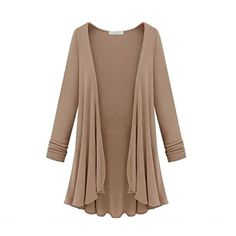 Pooqdo (TM) Newest Women Long Sleeve Knitted Cardigan Loose Sweater Jacket Coat (L, Khaki) Pooqdo (TM) http://www.amazon.com/dp/B00PRHSE9A/ref=cm_sw_r_pi_dp_jlL9ub11WH68E