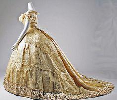 1866 wedding dress Mon. Vignon