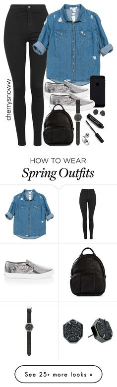 """""""Comfy casual spring outfit"""" by cherrysnoww on Polyvore featuring Topshop, Sans Souci, White House Black Market, Alexander Wang, J.Crew, Bobbi Brown Cosmetics and Kendra Scott"""