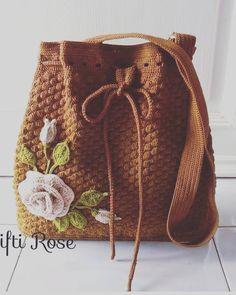 Ideas For Knitting Bag Sewing Pattern Sweaters Crochet Tote, Crochet Handbags, Crochet Purses, Love Crochet, Knit Crochet, Bag Patterns To Sew, Knitting Patterns, Sewing Patterns, Crochet Patterns