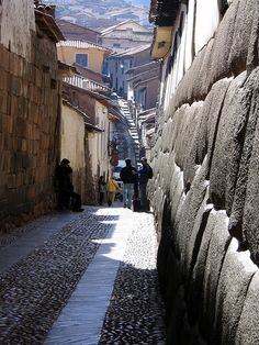 San Blas, Cusco, Peru.....Notice the stone wall to the right.  Amazing!!  ...Pat