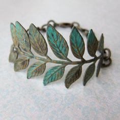 Everlasting Everything II... ((leaf and branch stamping bracelet)). $23.00, via Etsy. Beautiful. Very me. Very Boho!