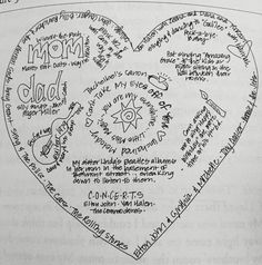 The music of my heart prewriting strategy. By Penny kittle. Heart Map Writing, Writing Anchor Charts, Writing Notebook, 7th Grade Writing, Pre Writing, Teaching Writing, Classroom Board, Creative Writing Prompts, Writing Assignments