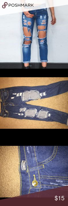 Distressed Boyfriend Jeans Brand new. Never worn. Super cute and amazing quality. Urban Outfitters Jeans Boyfriend