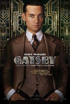 """Tobey Maguire en el póster de """"The Great Gatsby"""" #EvenproCines"""
