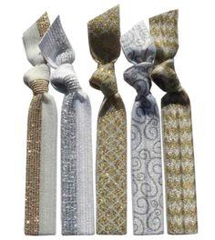Platinum  Hair Tie 5 Pack