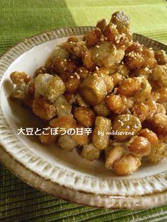 ◆大豆とごぼうの甘辛◆ by mildsevene 【クックパッド】 簡単おいしいみんなのレシピが278万品