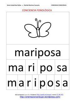 Conciencia fonológica trabajando con la segmentación con nombres de animales - en español.