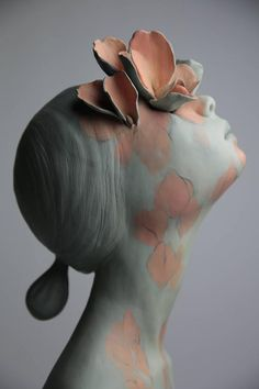 ceramic art sculpture Gosias Bold, Emotional New Sculptures Pottery Sculpture, Sculpture Clay, Sculpture Ideas, Stone Sculpture, Surrealism Sculpture, Cardboard Sculpture, Angel Sculpture, Roman Sculpture, Sculpture Painting