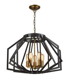 Pendant Light Oiled Bronze or White E27 in 60cm Gamba CLA Lighting | GoLights.com.au