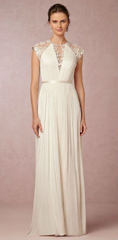 cap sleeve lace back wedding gown New at BHLDN - Beautiful 'Zoe' wedding gown