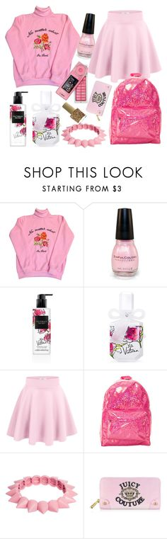 """baby doll ♡"" by mgldemartino on Polyvore featuring Samsung, Victoria's Secret, O-Mighty, ASOS, Juicy Couture and ncLA"
