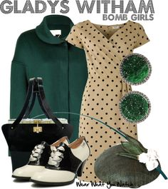 Inspired by Jodi Balfour as Gladys Witham on Bomb Girls.