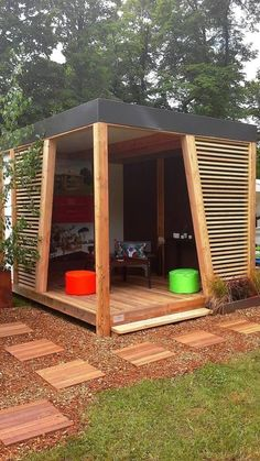 Amazing Shed Plans - Abri de jardin KUBHOME : Greenhouses pavilions by EXTAZE OUTDOOR Now You Can Build ANY Shed In A Weekend Even If You've Zero Woodworking Experience! Start building amazing sheds the easier way with a collection of shed plans! Garden Gazebo, Backyard Patio, Backyard Landscaping, Outdoor Pergola, Modern Pergola, Pergola Kits, Backyard Privacy, Backyard Sheds, Pergola Plans