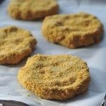 Chick-quin Patties - garbanzo bean patties with a crispy coating.