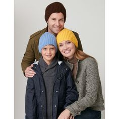 Ribbed Hat Worsted  US 6 Needles Sizes: 4/6 yrs (8/10 yrs-Woman-Man).