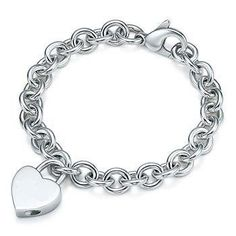 Designer Inspired Plain Engravable Heart Locket Bracelet