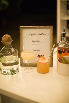 His-and-hers signature cocktails | @cjevans325 | Brides.com